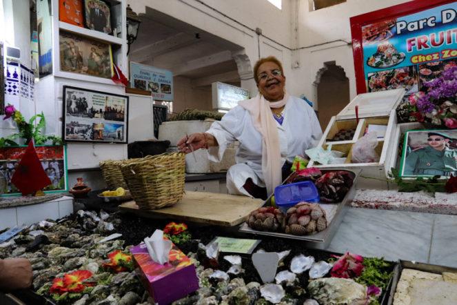 カサブランカの中央市場