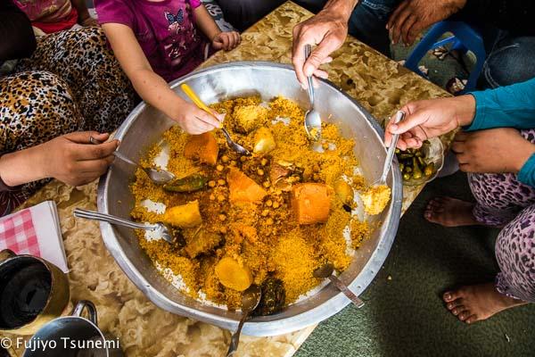 チュニジアの料理クスクス