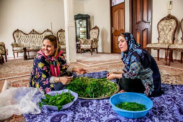 「クク・サブジ」<イラン版オムレツ> の作り方