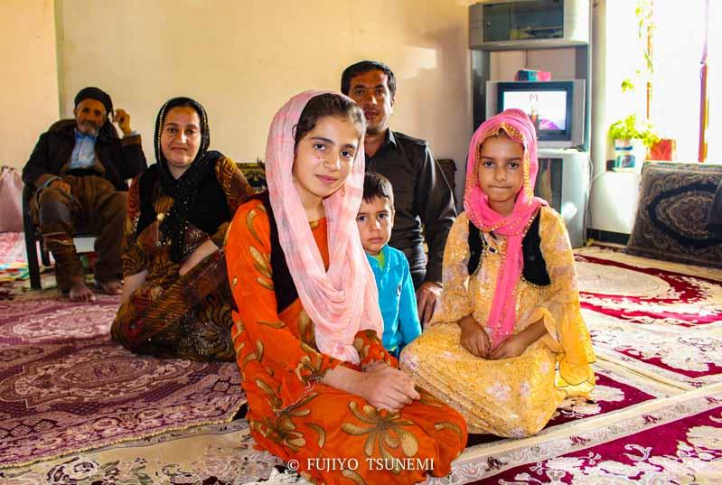 イランの家族 クルド人