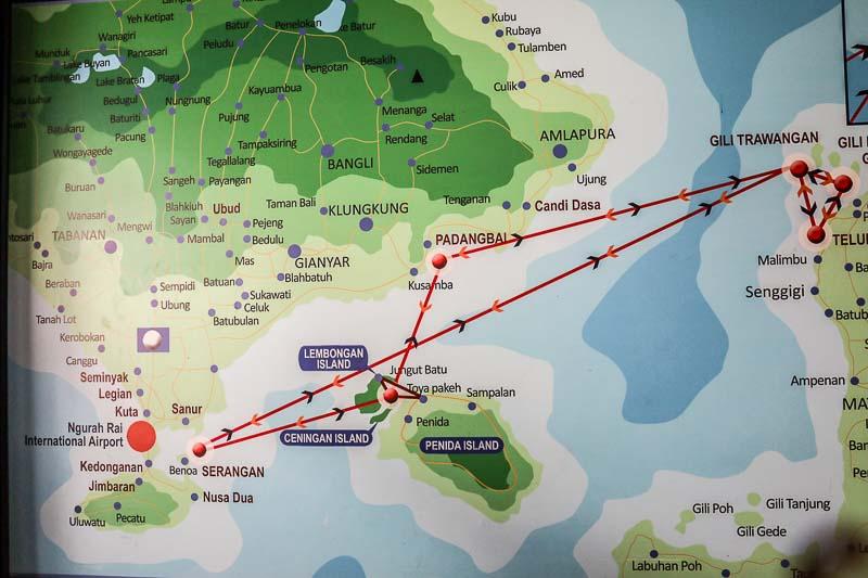 ギリアイル島からスピードボートでバリ島へ。船上で危機一髪!<インドネシア>