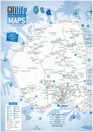 ギリ・アイル島の地図