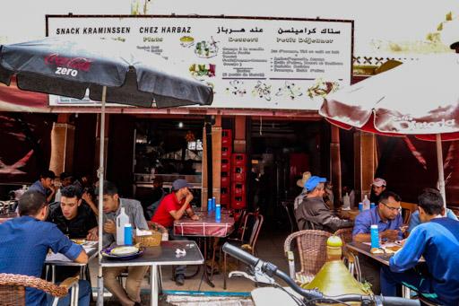 タフロウトのレストラン