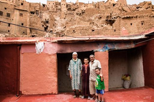 アイト・マンスールの廃村の民宿