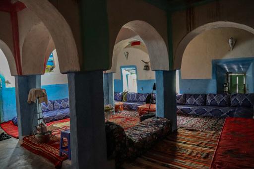 アイト・マンスールの民宿の部屋。