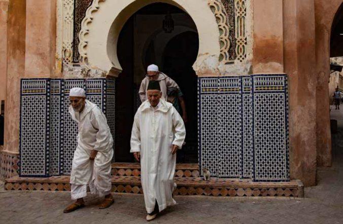 モロッコ男性の民族衣装