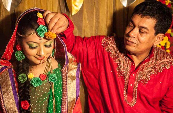バングラデシュ女性:美人の花嫁 バングラデシュの結婚式:ガエ・ホルード