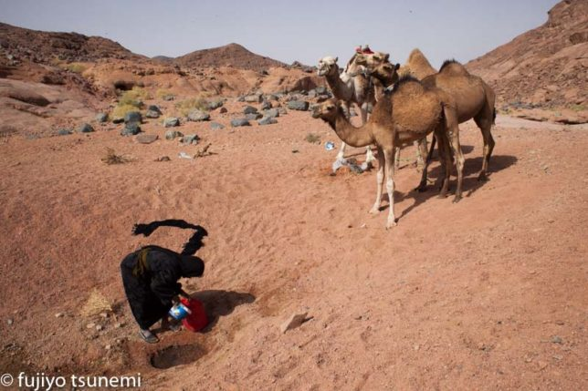 砂漠に生きる遊牧民女性