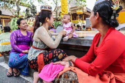 インドネシアの家族 バリ島の家族